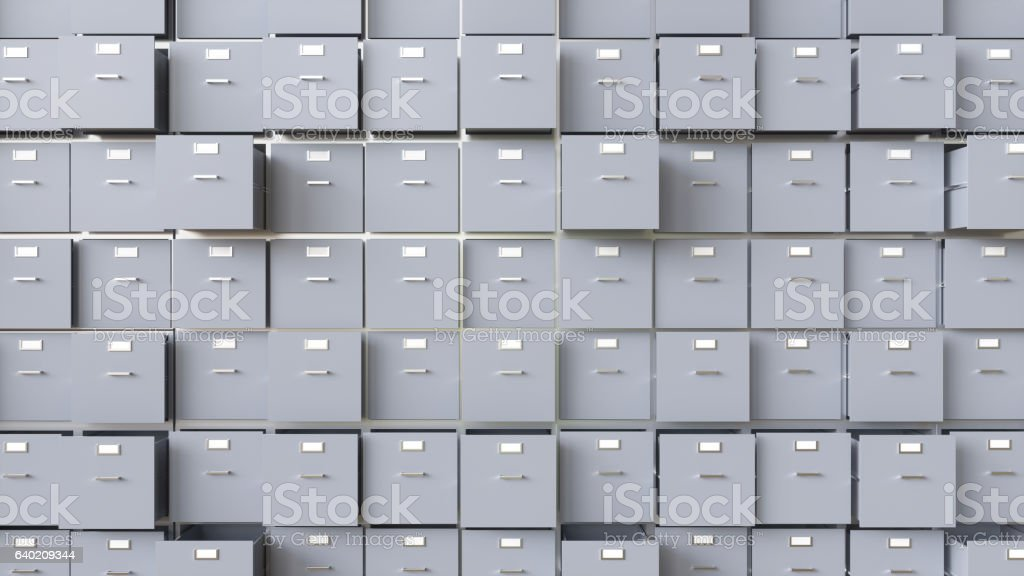 Data collection in containers - 3D Rendering stock photo