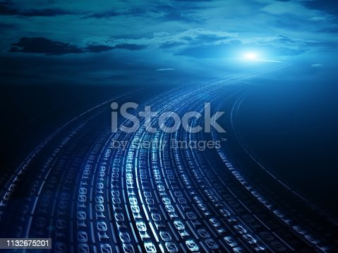 istock Data communications and cloud computing network concept 1132675201