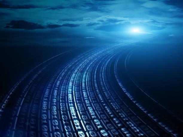 Datenkommunikation und Cloud Computing Netzwerk-Konzept – Foto