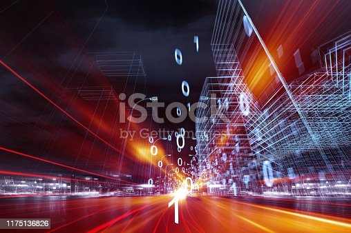 istock Data communications and cloud computing network concept 1175136826