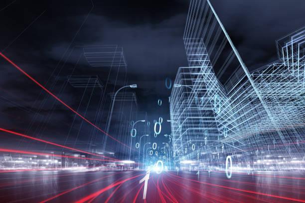 Datenkommunikations- und Cloud-Computing-Netzwerkkonzept – Foto
