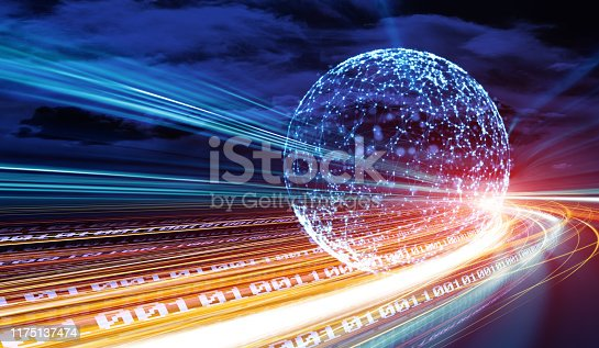 istock Data communications and cloud computing network concept 1175137474