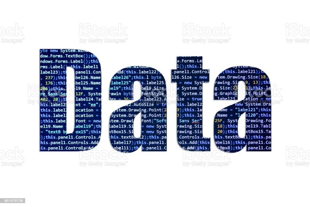 Data concept on a white background stock photo