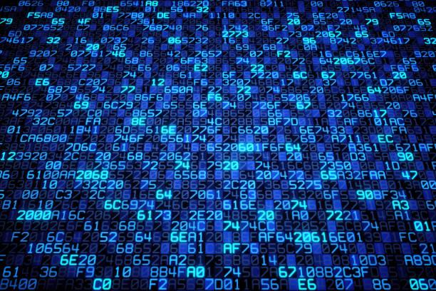 Transmission de données large bleu - Photo