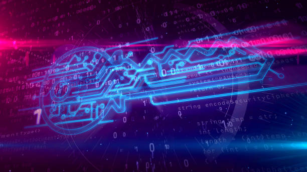 帶網路金鑰的資料加密數位概念 - 電腦按鍵 個照片及圖片檔