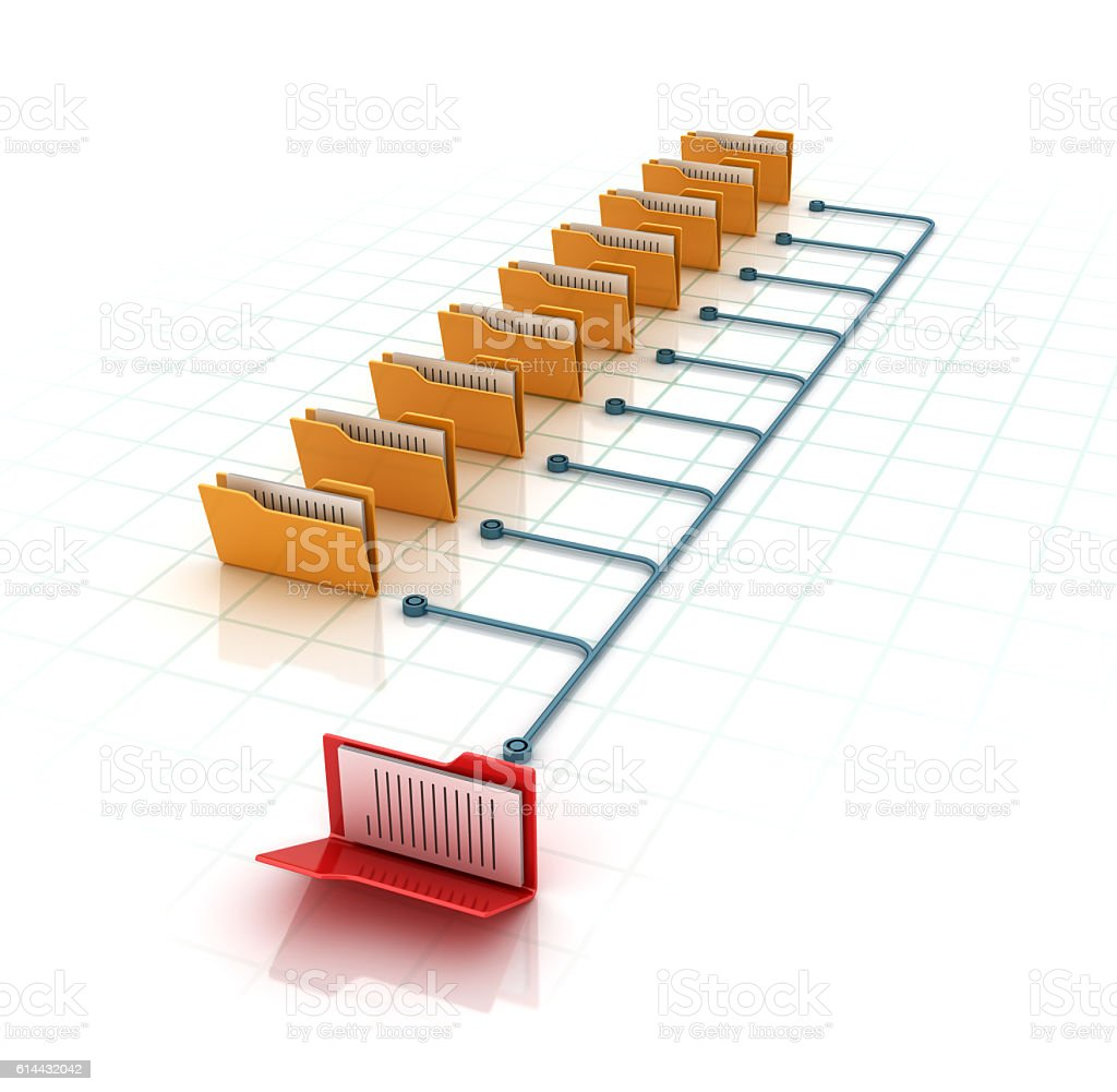Data File Folders stock photo
