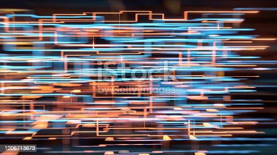 970317224 istock photo Data flow grid 1206713673