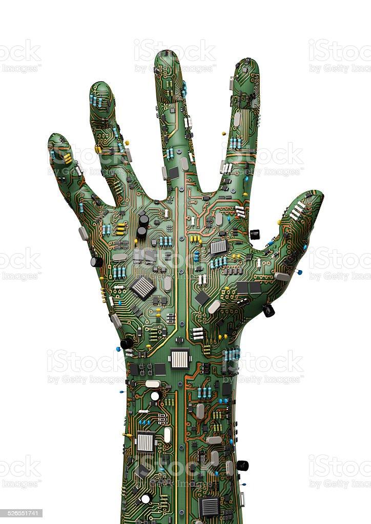 Data hand stock photo