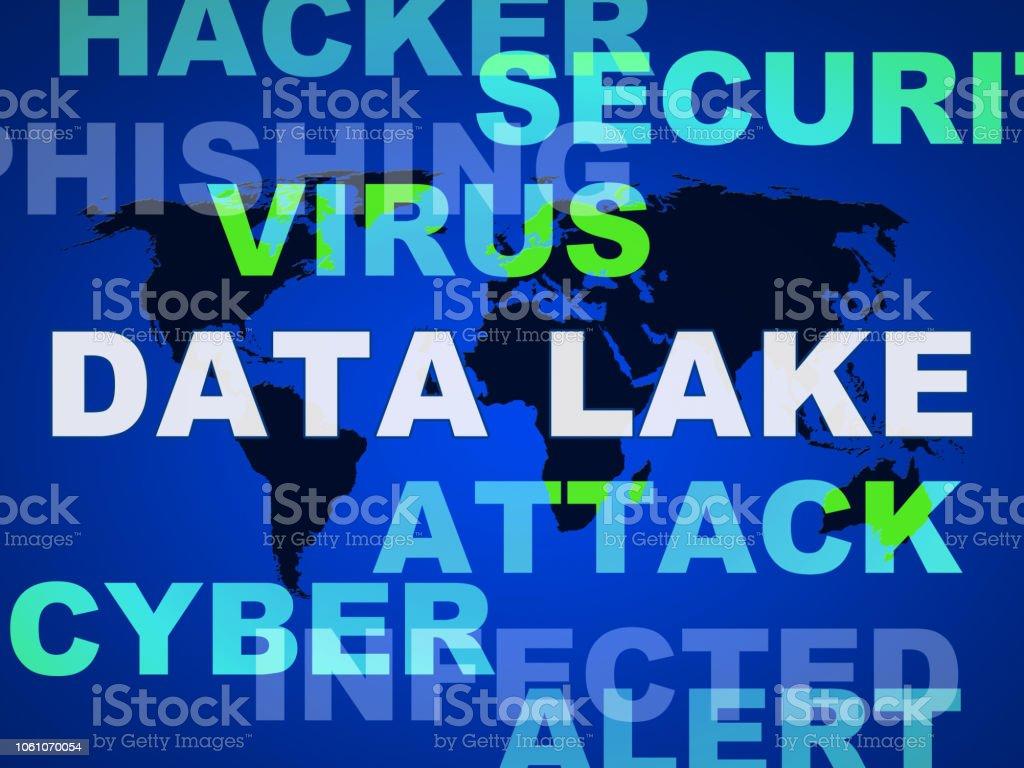 Data Lake Digital Datacenter Cloud 2d Illustration stock photo