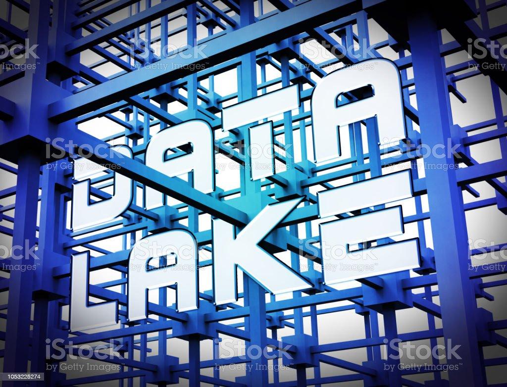 Data Lake Digital Datacenter Cloud 3d Rendering stock photo