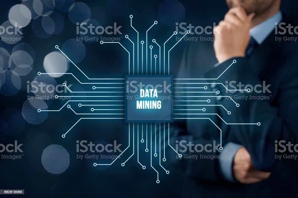 Data mining concept stock photo