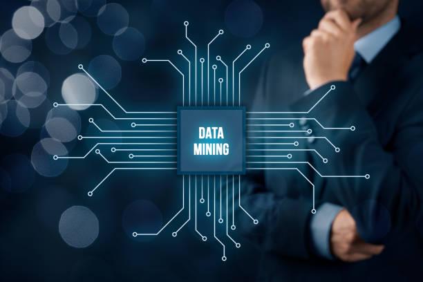 Data mining concept stock photo