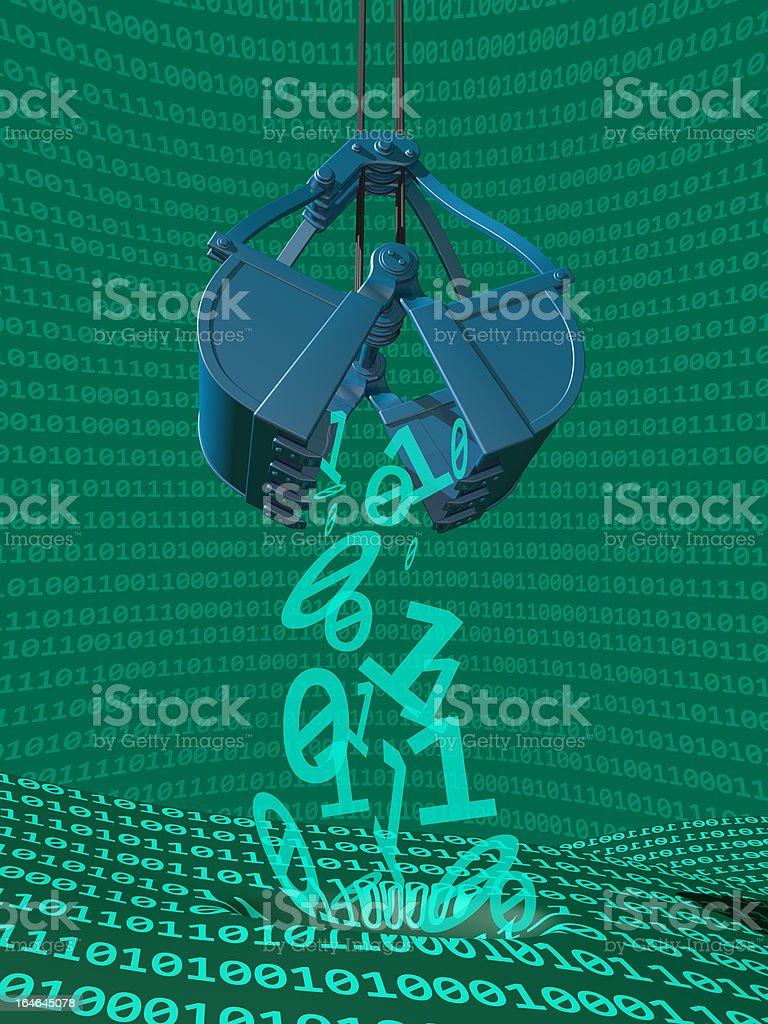 Data Mining Process royalty-free stock photo