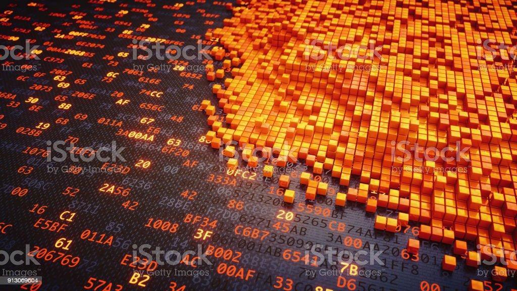 Data Mining-Struktur auf Binärzahlen – Foto