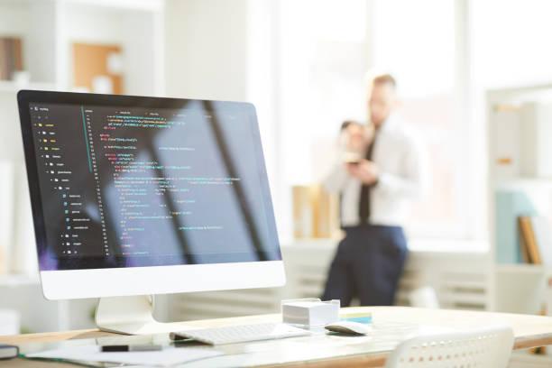 Daten auf dem Computerbildschirm – Foto