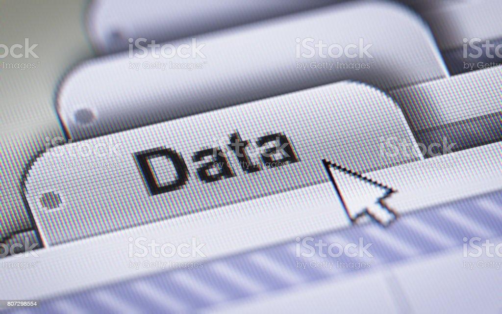 Data - foto stock