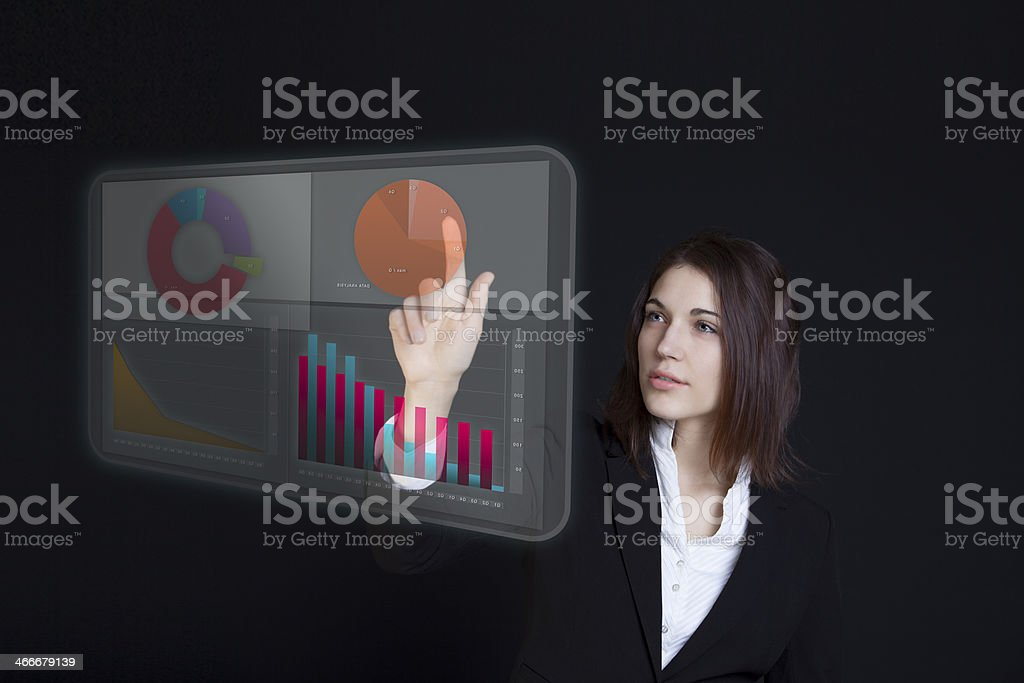 Data projection royalty-free stock photo