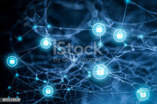 istock Data protection and insurance. Concept of business security system. 820243528