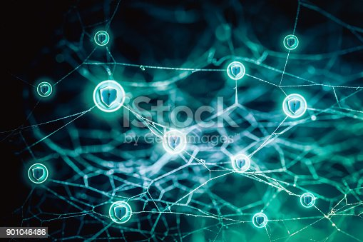 istock Data protection and insurance. Concept of business security system. 901046486