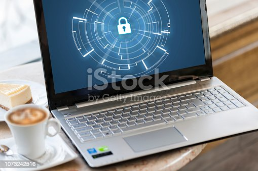 Security lock at the computer monitor