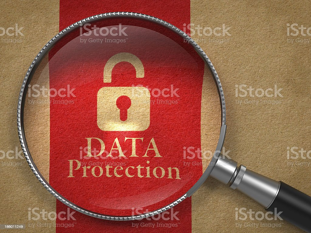 Data Protection Concept. royalty-free stock photo