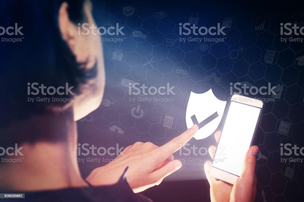 data protection concept stock photo