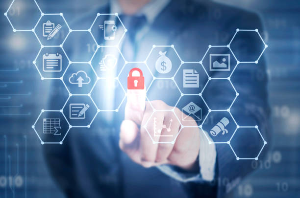 data protection, data security stock photo