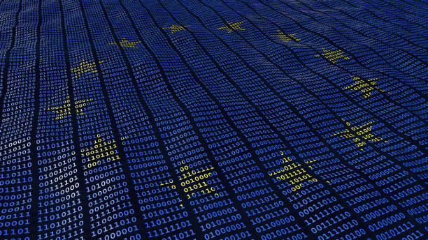 eu data protection gdpr bits and bytes - bit binary stock pictures, royalty-free photos & images