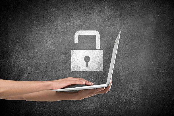 data protection icon - privacy policy stock photos and pictures