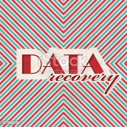 istock Data Recovery Concept on Striped Background. 477645193
