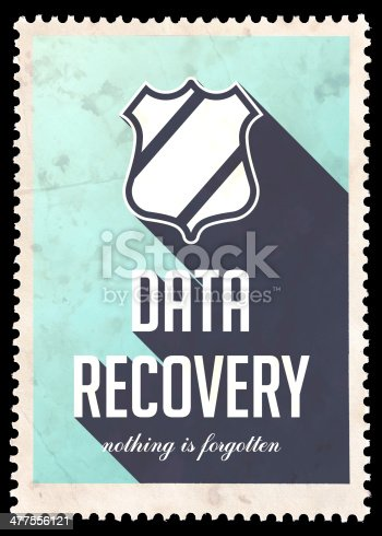 istock Data Recovery on Blue in Flat Design. 477556121