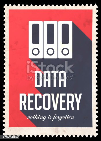 istock Data Recovery on Red in Flat Design. 475734467