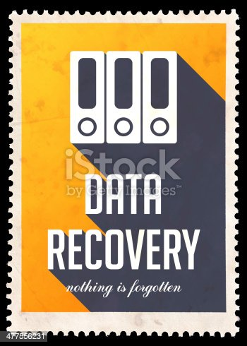 istock Data Recovery on Yellow in Flat Design. 477556231