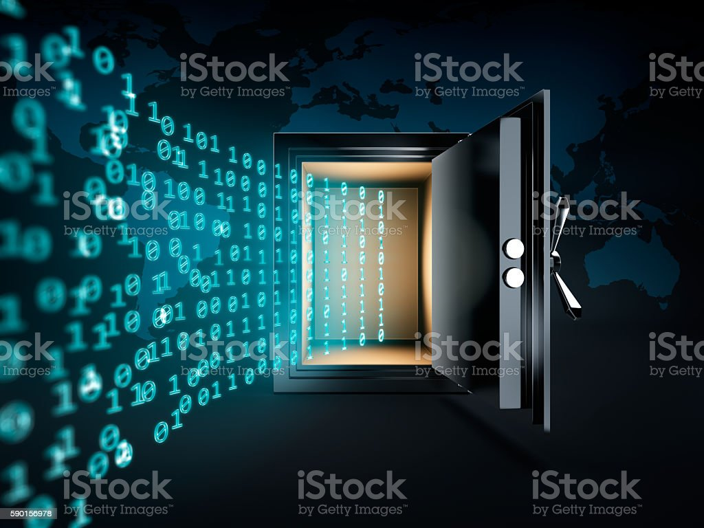 Data Safe Box stock photo