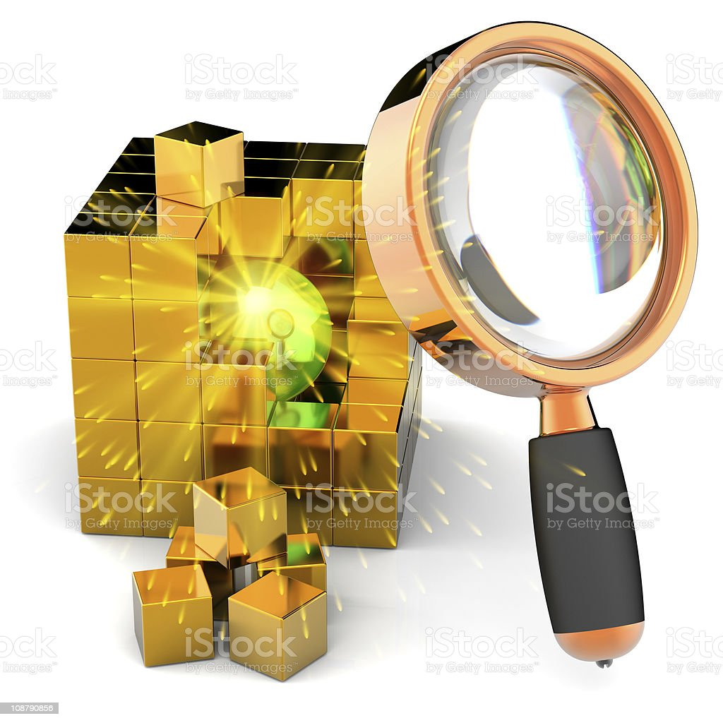 Data search abstract. I have found information! royalty-free stock photo