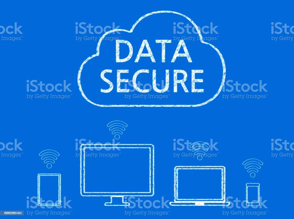 Data Secure - Business Chalkboard Background royalty-free stock photo