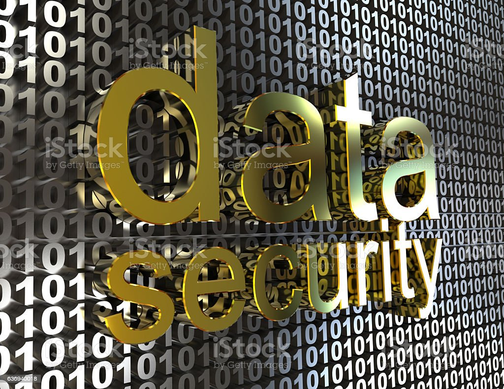 data security  3d concept stock photo