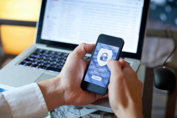 concetto di sicurezza dei dati, login e password - protezione foto e immagini stock