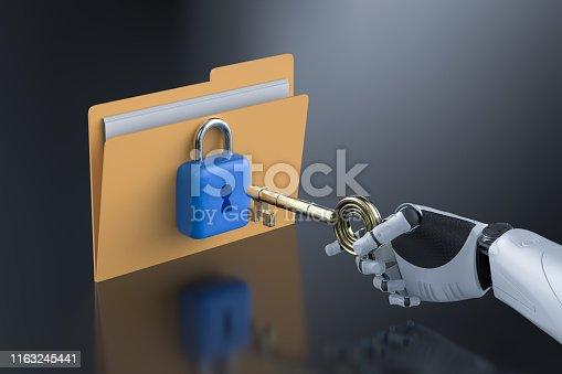istock Data security concept 1163245441