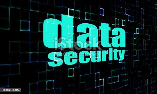 894954832 istock photo Data security on digital screen 1056136852
