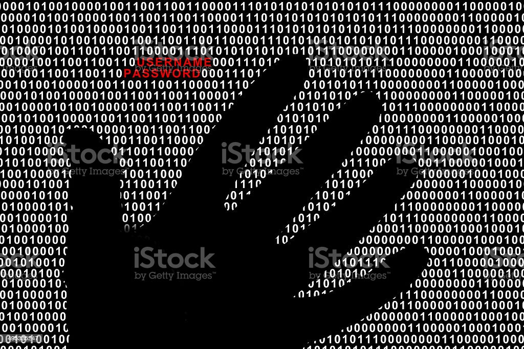 Data security or steal password concept stock photo