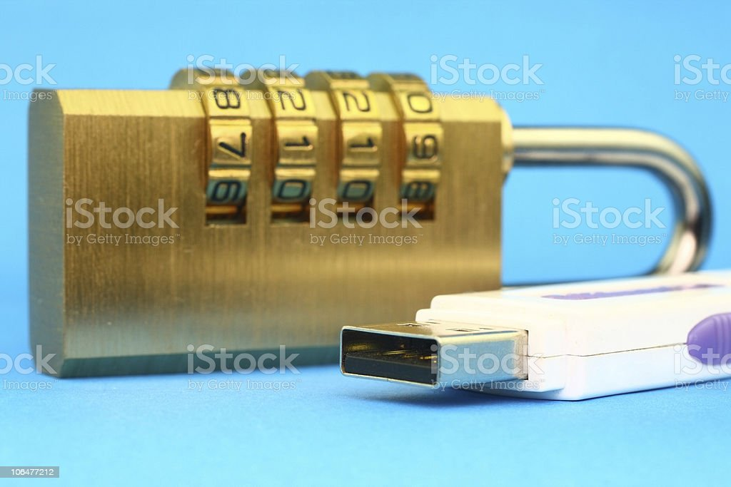 Data security stock photo