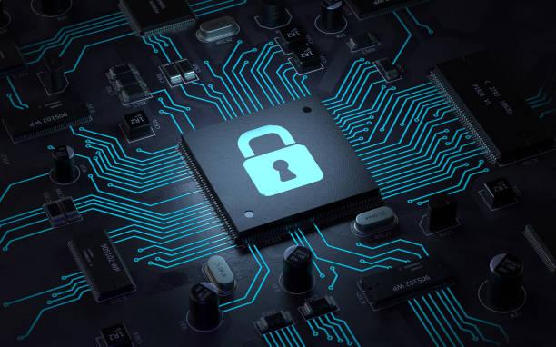 segurança de dados - computador cadeado - fotografias e filmes do acervo