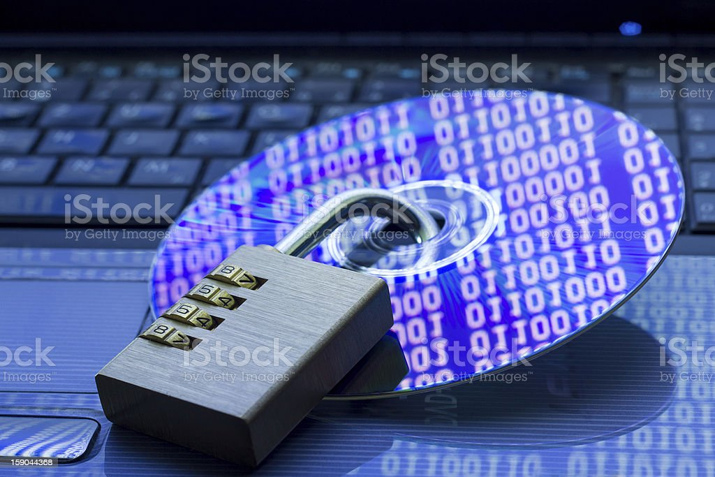 Data security stock photo