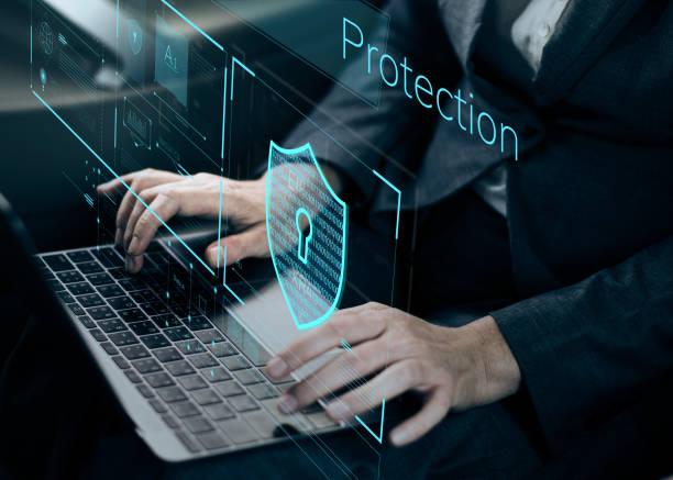 datensicherungssystem schild schutz überprüfung - netzwerksicherheit stock-fotos und bilder