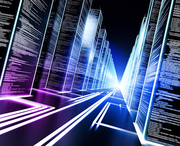 Data storage cyber concept stock photo
