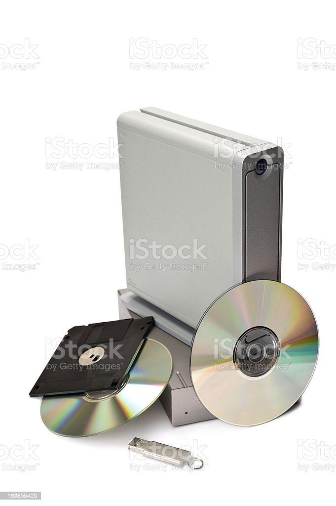 Data storage devices royalty-free stock photo