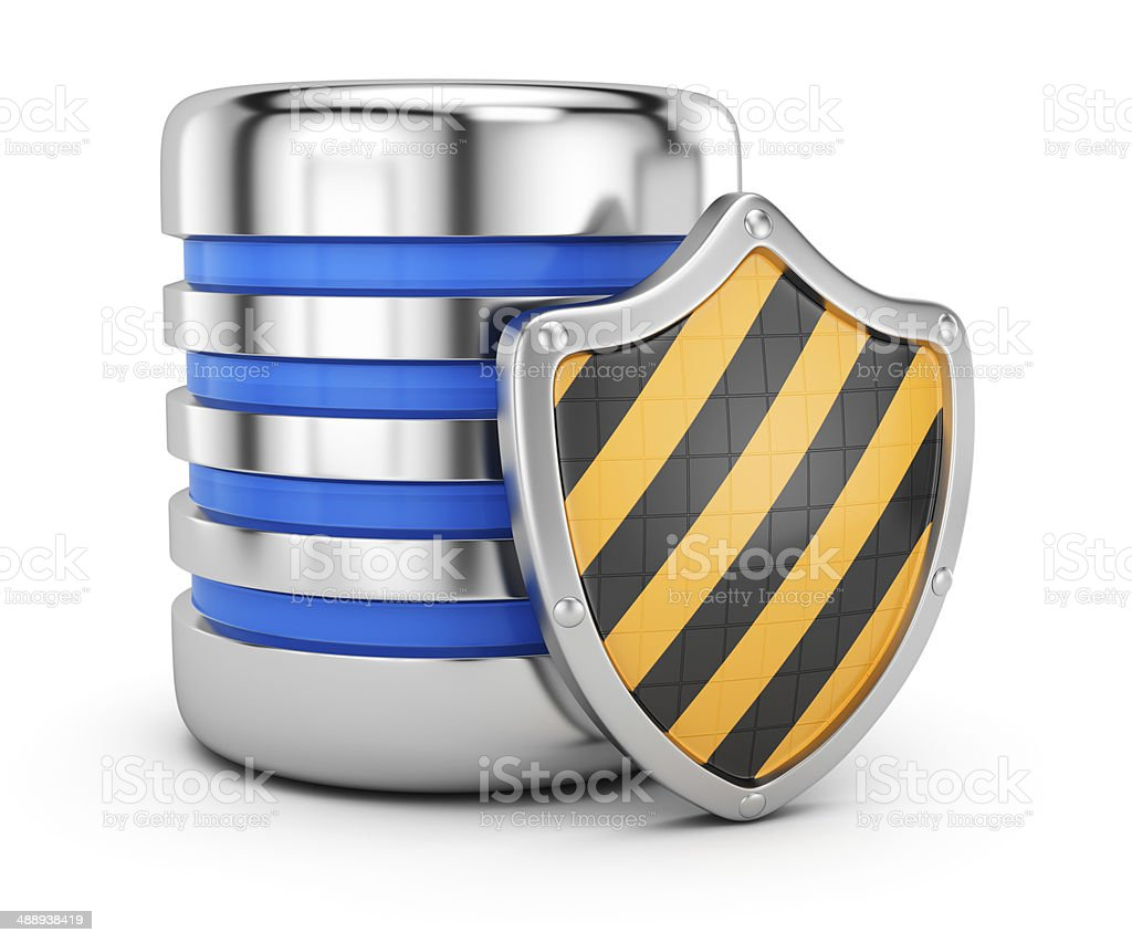 Data storage protection concept royalty-free stock photo