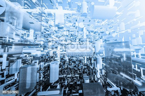 istock Data stream of Information structures 692937880
