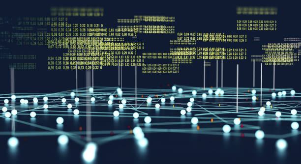 Data structure and information tools for networking business stock photo